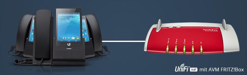 UniFi UVP Telefon mit AVM FRITZ!Box