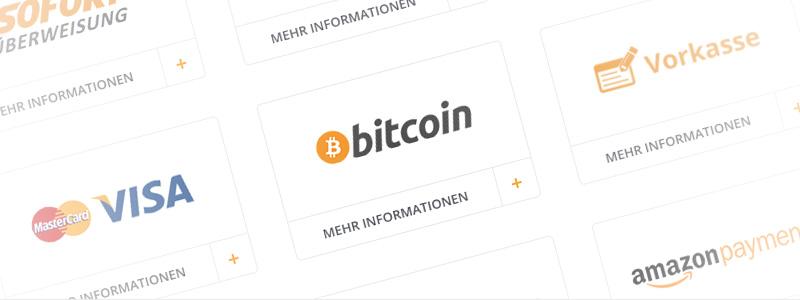 Mit Bitcoins auf shop.omg.de bezahlen