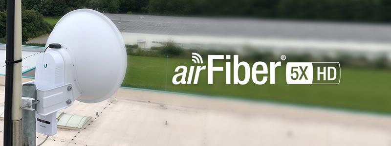 Trotz schwierigster Bedingungen sehr gute Ergebnisse mit der neuen airFiber 5X HD
